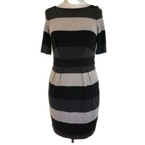 Vince Camuto NWT Stripe Dress Pleated Color Block